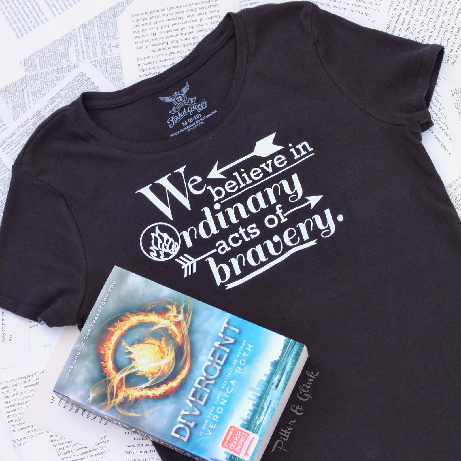 DIY Divergent-Inspired T-shirt & Keychain from PitterandGlink.com #divergent