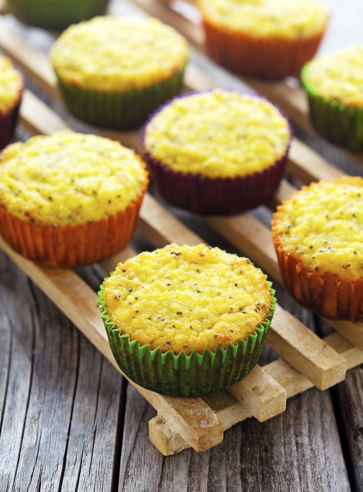 (Paleo) Coconut Lemon Chia Seed Muffins