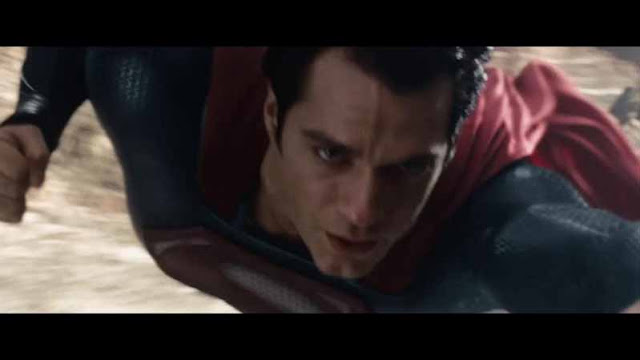 man of steel superman flies