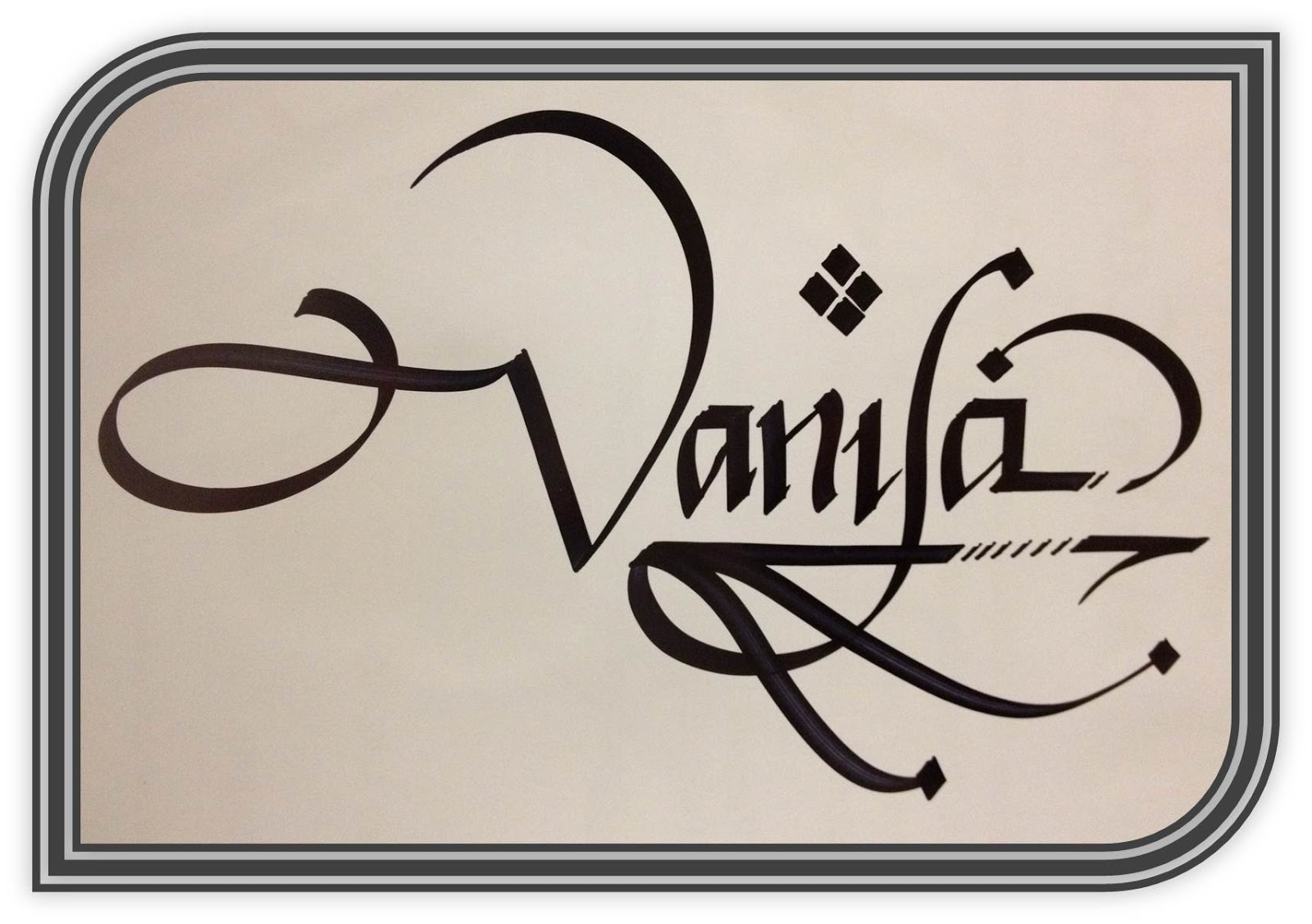 Calligraphy Art Russian Names In Calligraphy Vanya