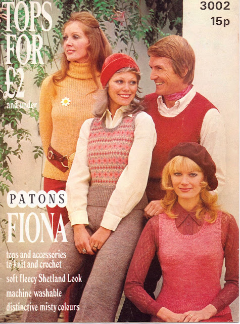 The Vintage Pattern Files: Free 1970's knitting Patterns - Ladies Fair Isle Slip Over & Trousers