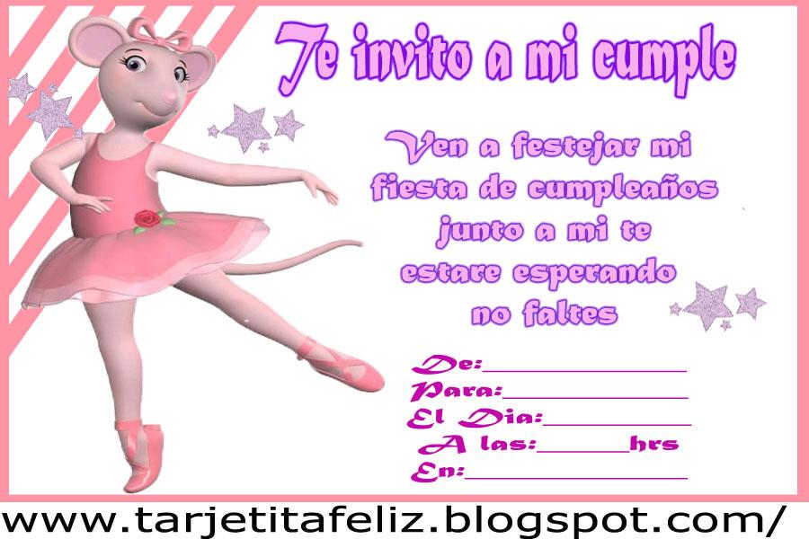 Invitación de Angelina Ballerina