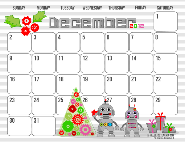 December+2012+Calendar+Printable+PDF Butterfly Kisses of Love: ** Cute ...
