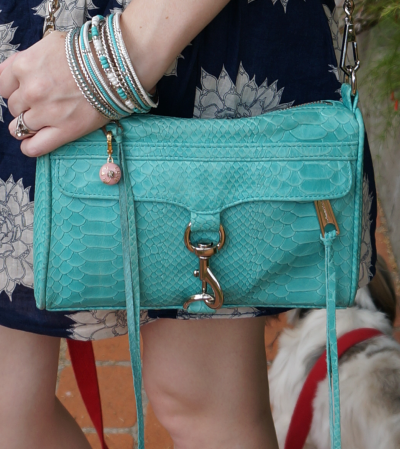 away from blue blog handbag rebecca minkoff aqua mini MAC bag