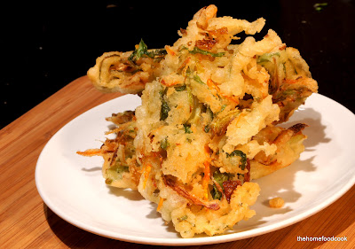 thehomefoodcook - Crispy Crunchy Fried Vegetable Tempura