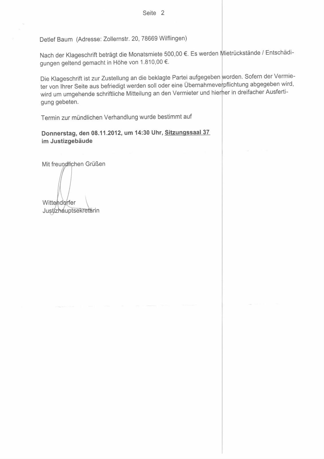 Charmant Wohnanschrift Fortsetzen Ideen - Beispiel Wiederaufnahme ...