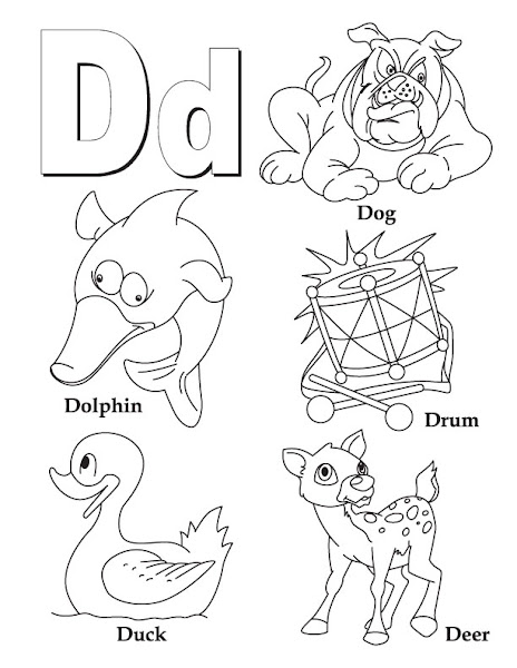 Preschool Letter D Coloring Pages