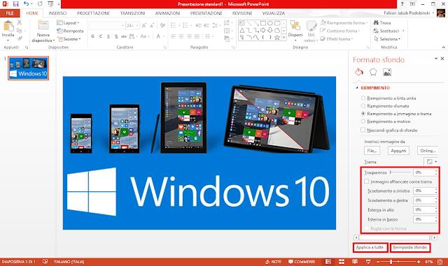 Come impostare sfondo diapositiva PowerPoint