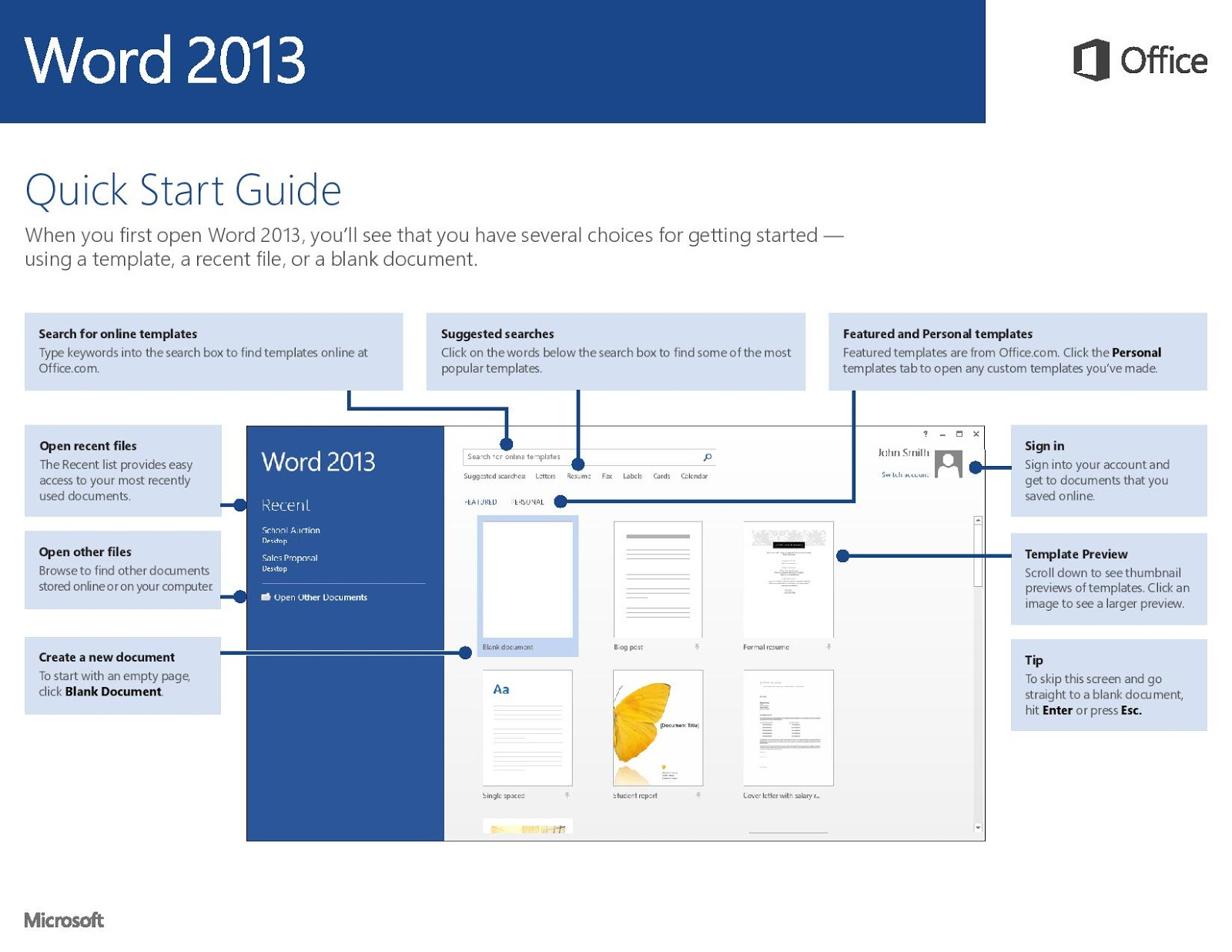 the officebites blog 2013 microsoft office word 2013 start guide