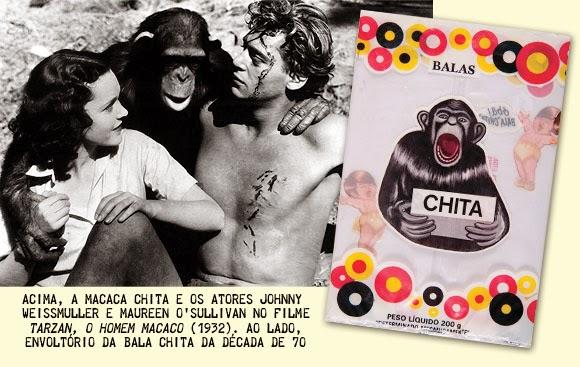 História da bala mais famosa nos anos 40 e 50: Chita. Inspiração em um sucesso do cinema.