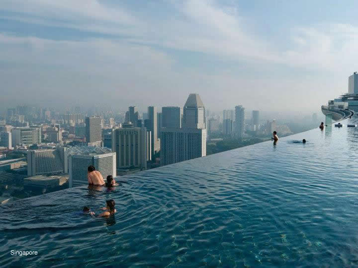 Piscina sospesa nel vuoto al 57 piano clicca la foto - Singapore hotel piscina ...