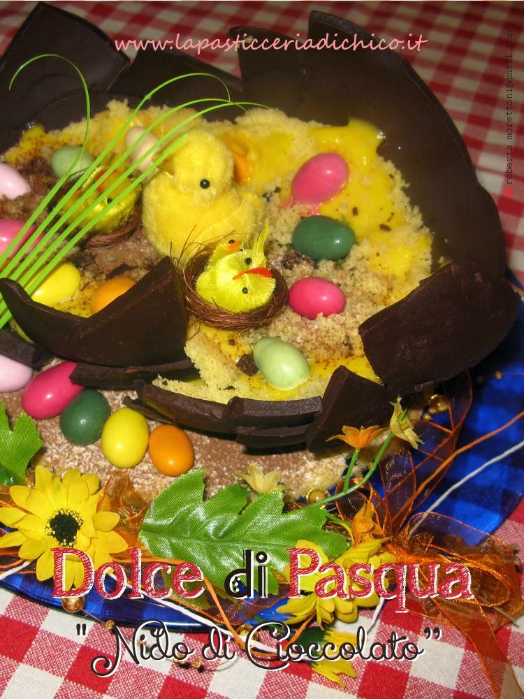 La pasticceria di chico dolce di pasqua nido di cioccolato - Uova di pasqua in casa ...