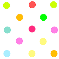 printable multicolored polka dot pattern paper