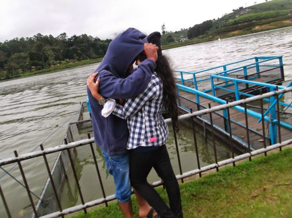 madhu with husband at Nuwara Eliya
