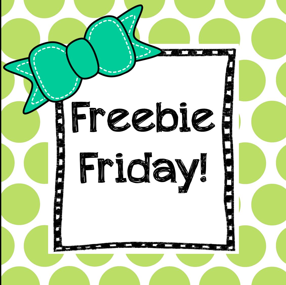 Preschool Ponderings: Friday Freebies
