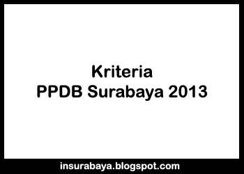 Kriteria PPDB Surabaya 2013, Ketentuan PPDB Surabaya 2013