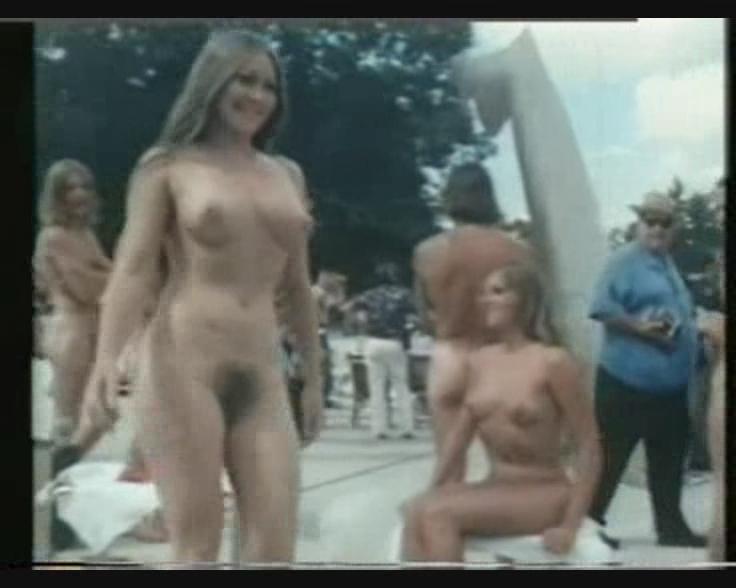 Nude on beach photo
