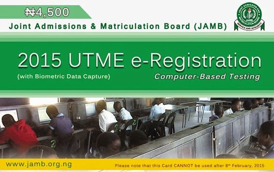 JAMB UTME Registration Scratch CArd