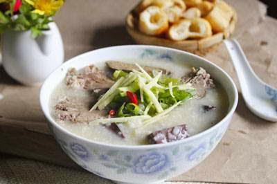 Pork Blood Porridge - Cháo huyết - cháo tiết