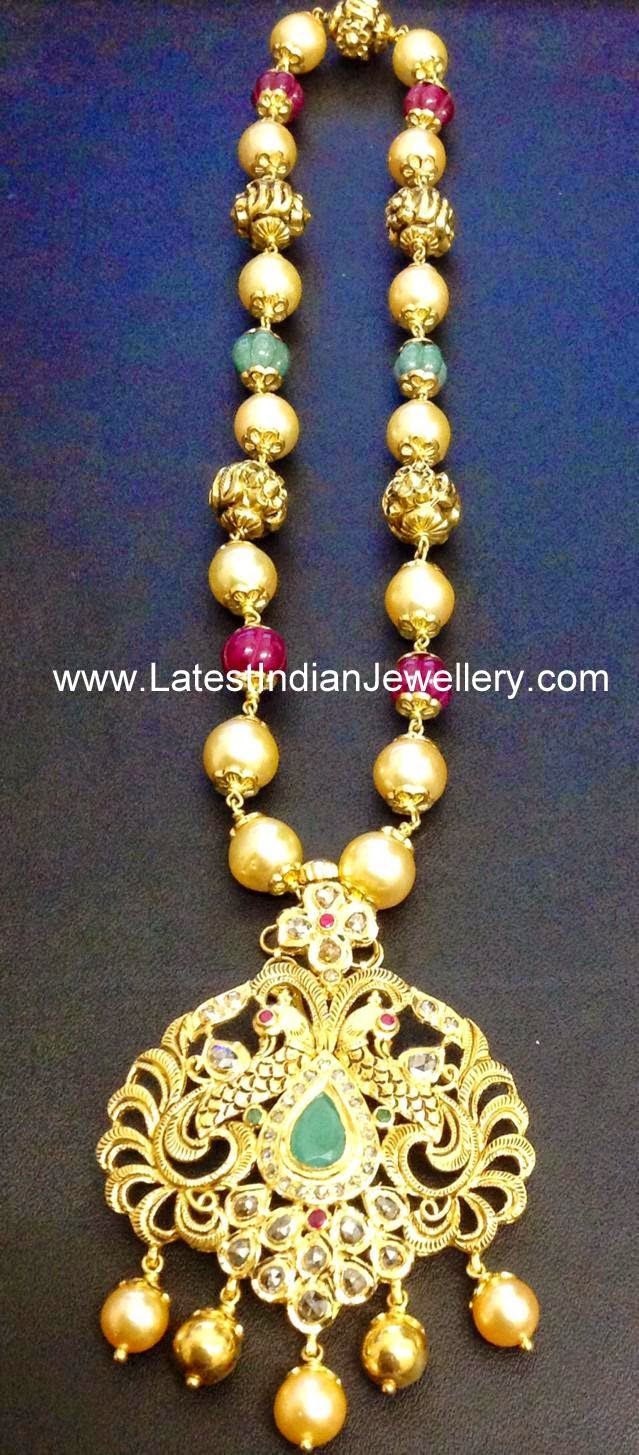 pearls nakshi beads fancy necklace
