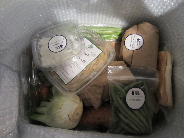 Blue Apron Box Contents