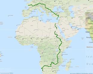 Itinéraire en cours - 19000 km