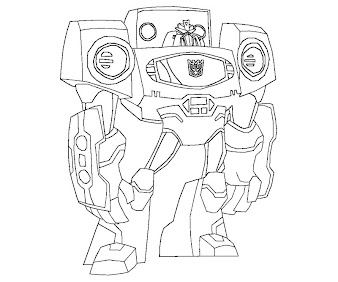#5 Transformers Coloring Page