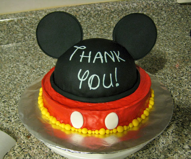 Mickey Mouse Ears Teacher Appreciation Cake 2