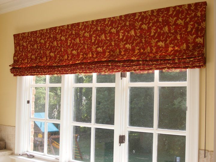 custom window treatments roman shade