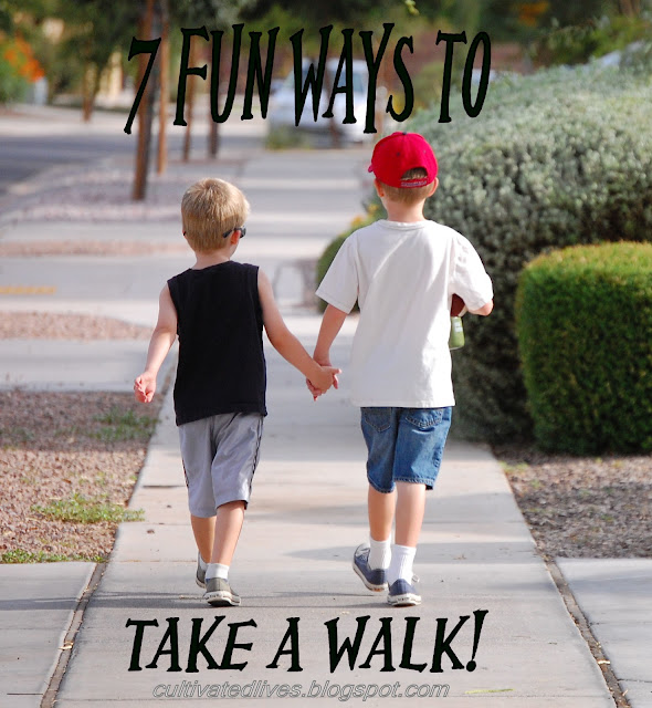 7 creative ideas for taking a walk!