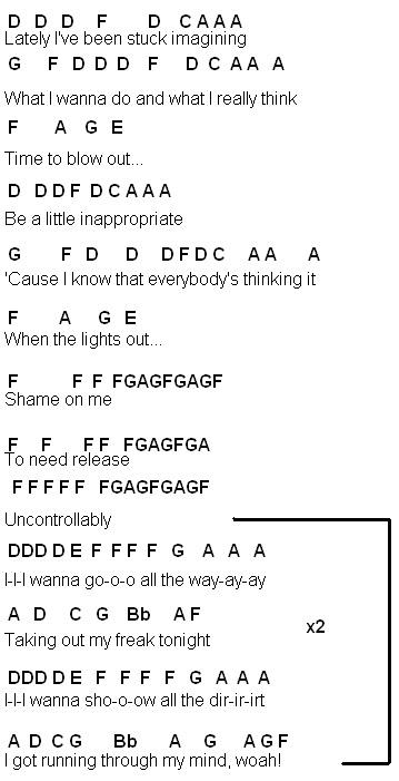 Flute Sheet Music I Wanna Go