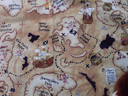 Today I made him a treasure map blanket and 4 burp cloths.