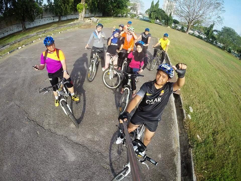 kamera gopro, gopro, kayuh basikal, program kayuh basikal, pjj usm, kursus intensif pjj 2014,