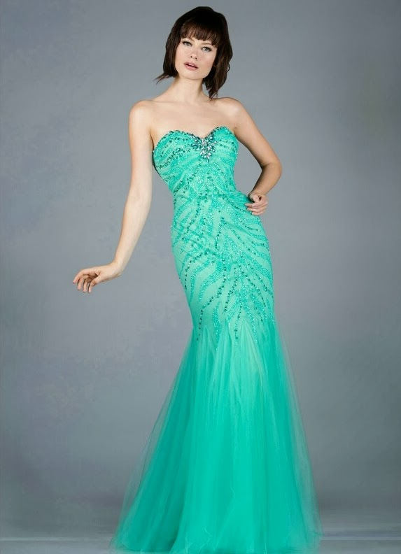 Teal Mermaid Prom Dress The Mermaid Prom Dress is