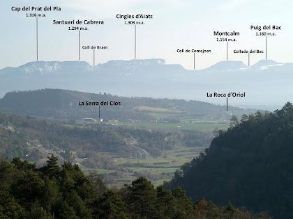 La Serra de Cabrera des de Solella del Pujol