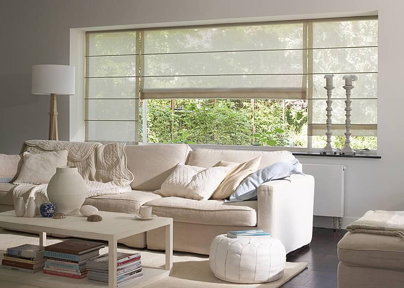 Raamdecoratie Lange Ramen: Binnenzonwering of decoratie ...