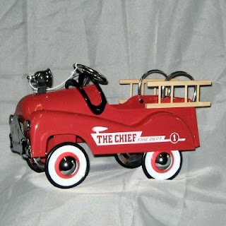 Buy a Replica Fire Engine Flower Container