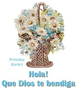 imágenes de hola en flores