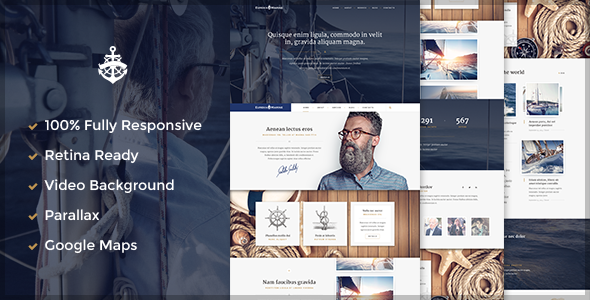 Marine WordPress Theme
