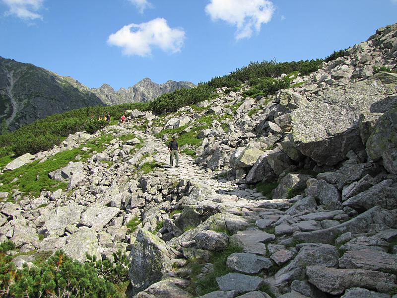 Szlak w Dolinie Gąsienicowej.