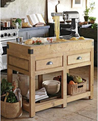 The rustic modernist dream house butcher block tables