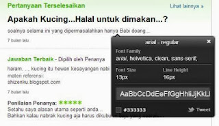 what font di yahoo answer