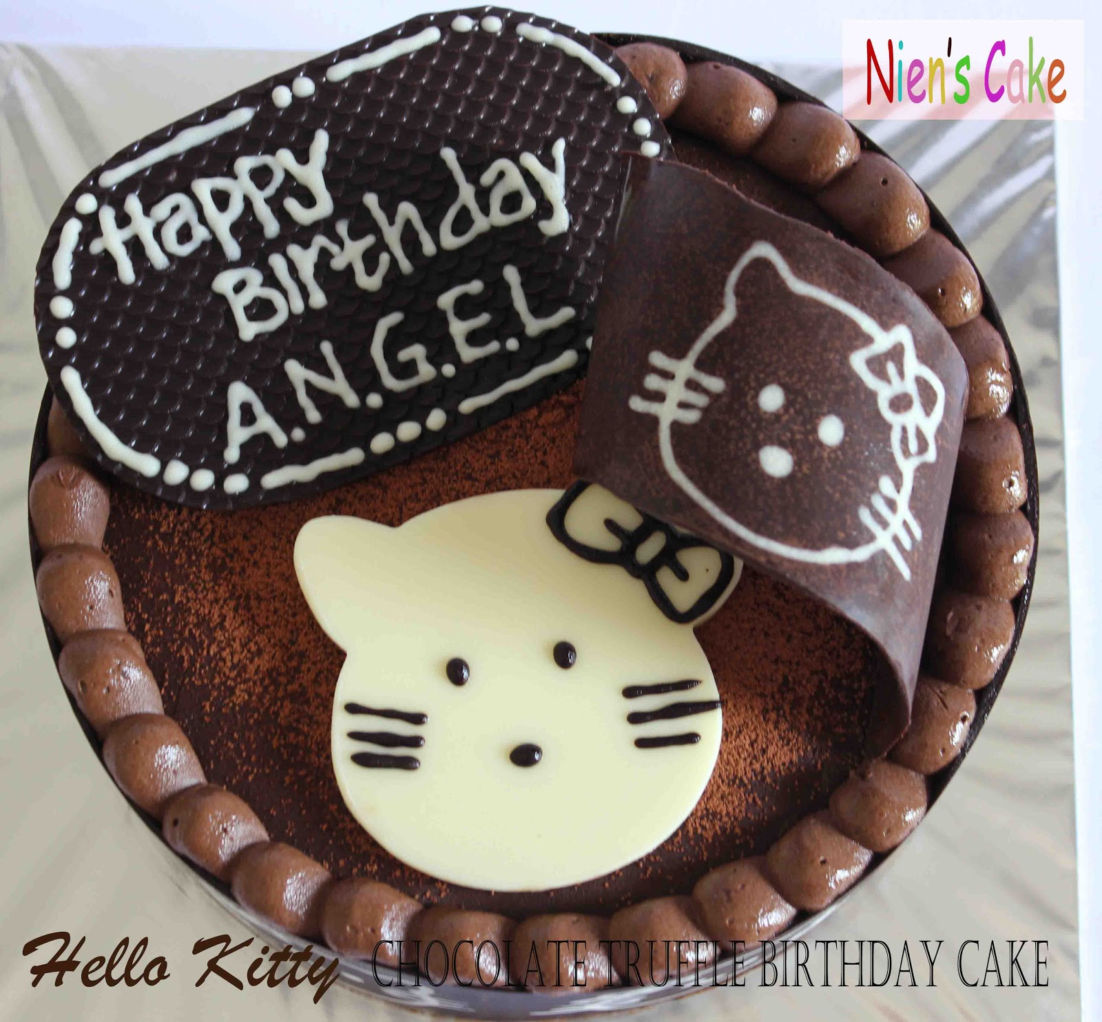 Umek Di Dapur Hello Kitty Choco Truffle Birthday Cake