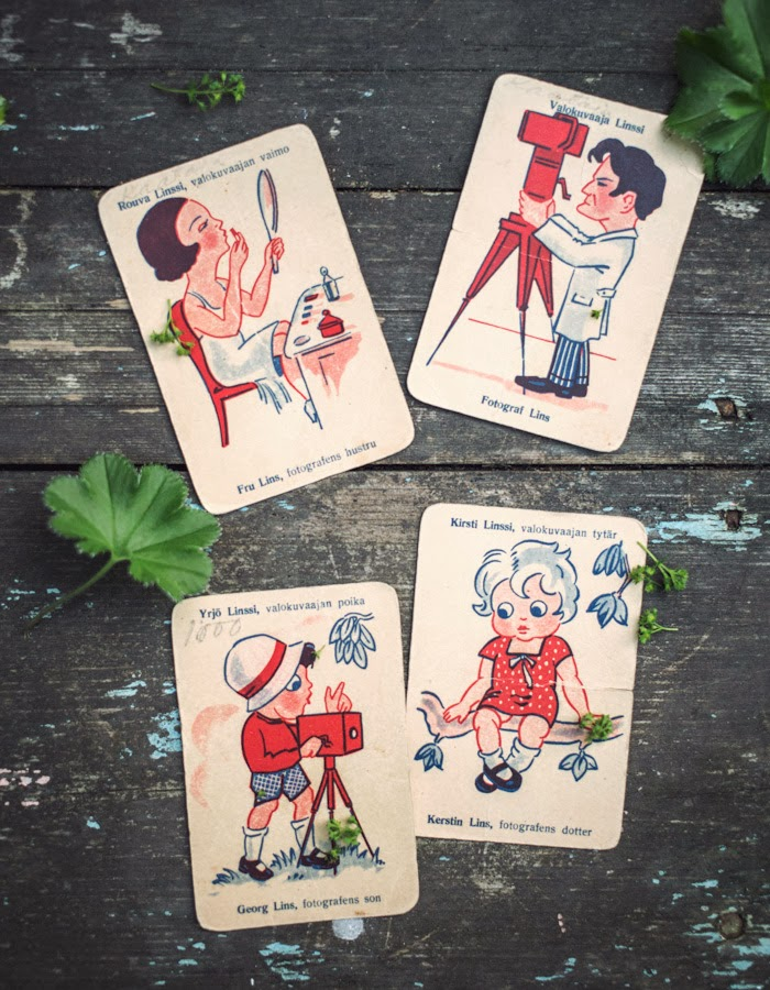 "Vintage Playing Cards ""Happy Families"" photo by www.gretchengretchen.com"