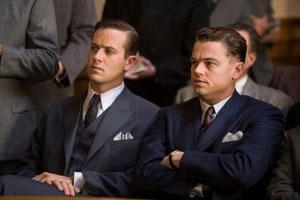Armie Hammer y Leonardo DiCaprio en J. Edgar