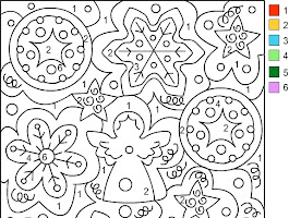 Color By Number Coloring Pages For Christmas