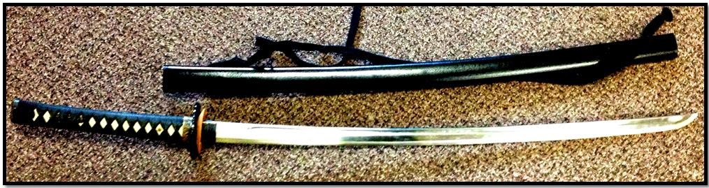 Samurai sword discovered in a carry on bag a BOS.
