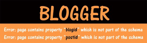 fix errors in blogger