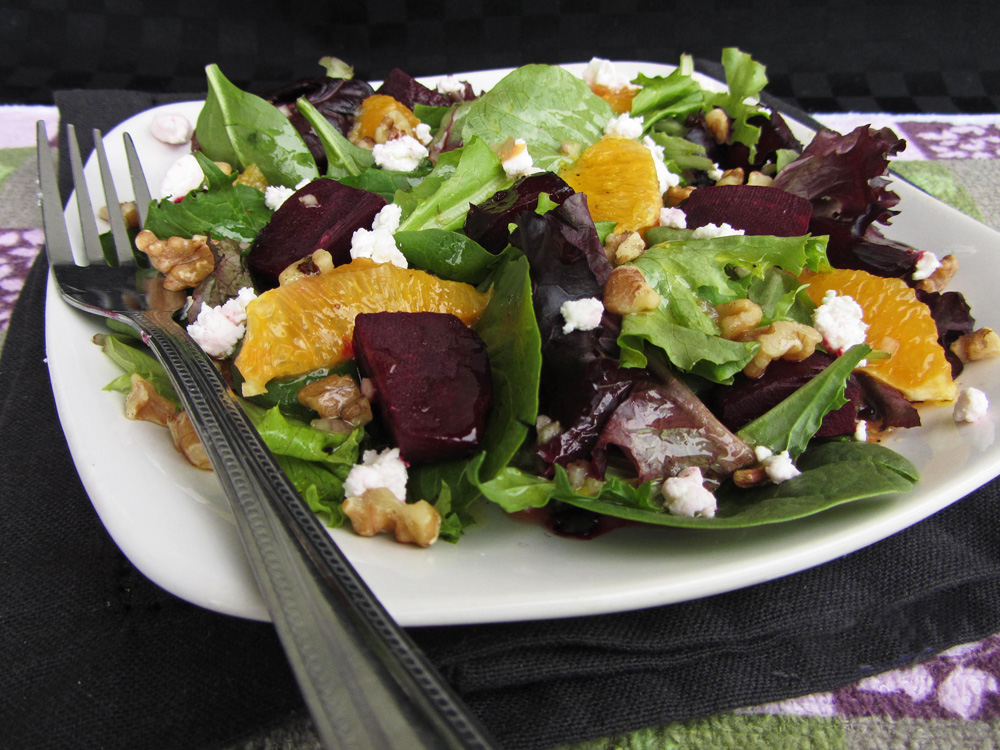 roasted beet and orange salad with citrus dressing