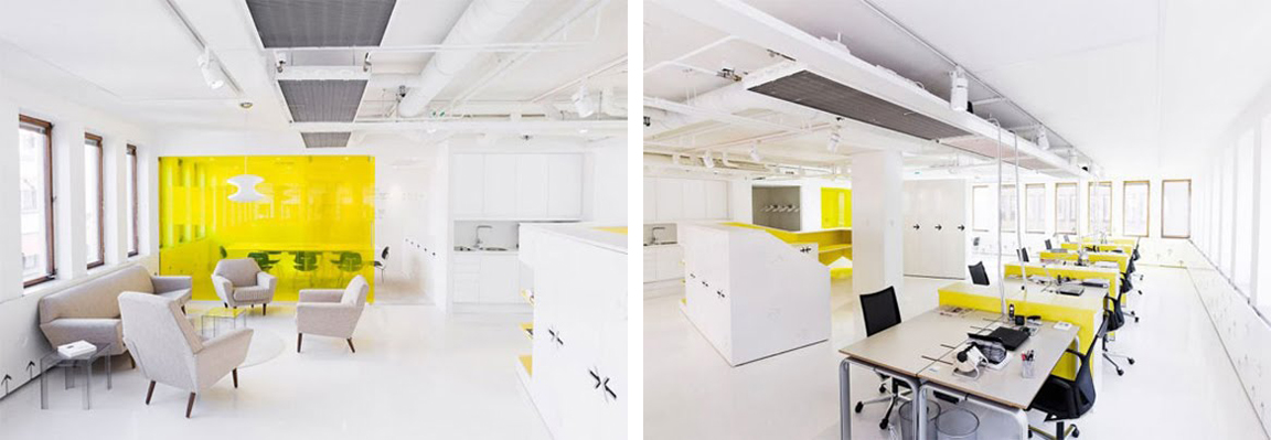 BLACK. WHITE. YELLOW.}: Kapero Black, White, and Yellow Office
